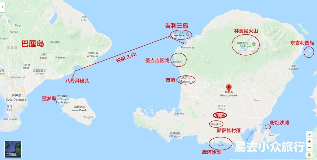 西隔龙目海峡同巴厘岛相望,东以阿拉斯海峡与松巴哇岛相邻,北滨巴厘海