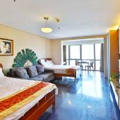 青島五四廣場市政府對面海景公寓(雙大床)